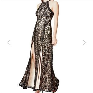 NWT!! ALINA SLEEVELESS BLACK LACE MAXI DRESS, S